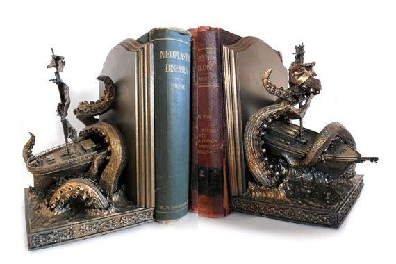kraken bookend