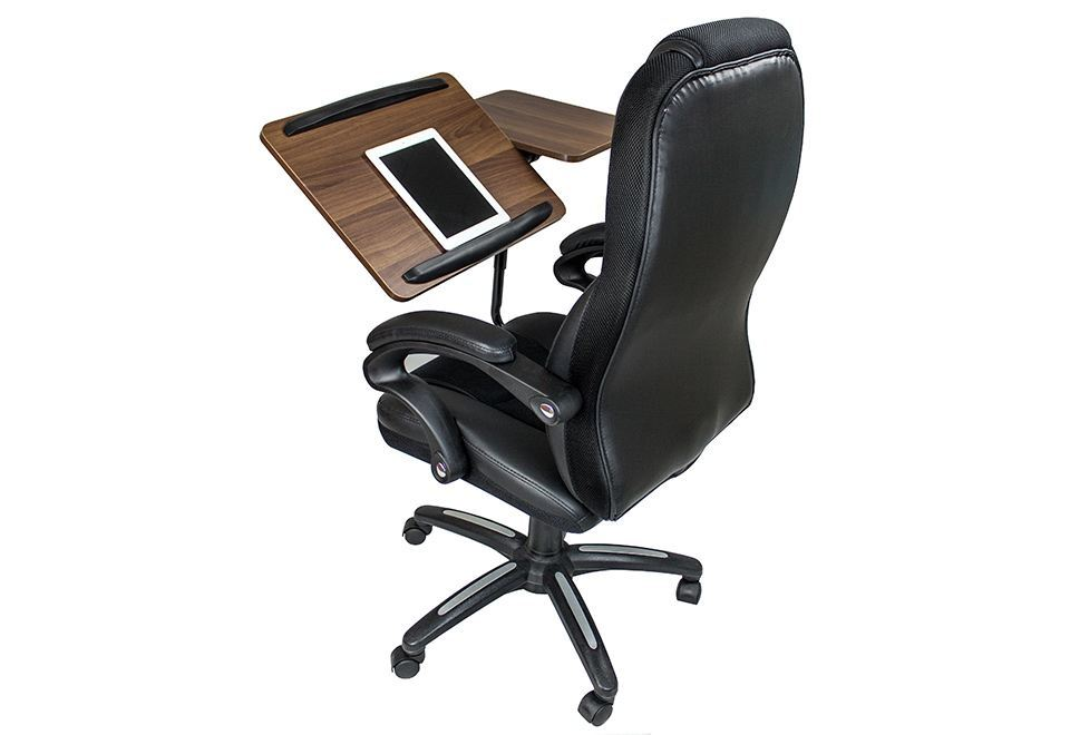 office chair with laptop
